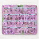 2014 flores rosadas Mousepad del calendario Alfombrilla De Ratones