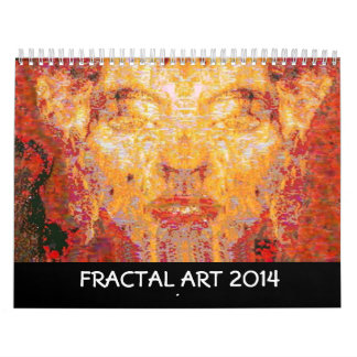 2014  FRACTAL ART COLLECTION WALL CALENDARS