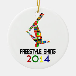 2014: Freestyle Skiing Ceramic Ornament