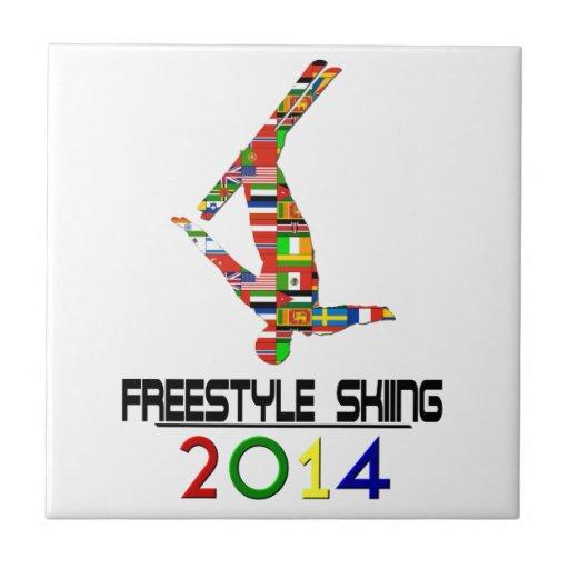 2014: Freestyle Skiing Ceramic Tile