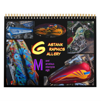 2014 Gastank Graphics Motorcycle paint art Calendar
