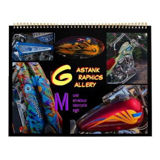 2014 Gastank Graphics Motorcycle paint art Huge Calendar