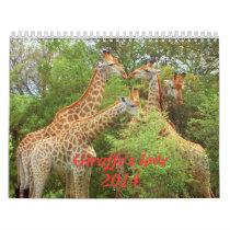 2014 Giraffe's love calendar