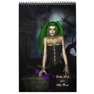 2014 Gothic Girls Art Book Calendar