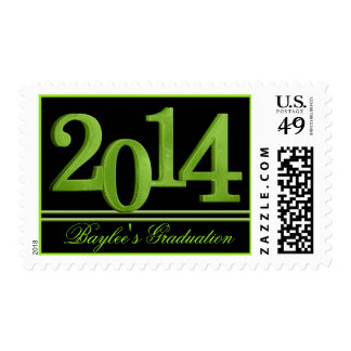 2014 Graduate Green Postage Stamps