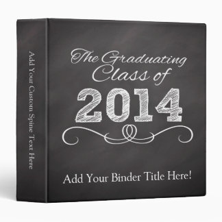 2014 Graduation Chalkboard-Style Notebook 3 Ring Binders