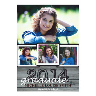 2014 Graduation Invite allows for four pictures