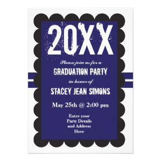 2014 Graduation Party Invitations Purple Black