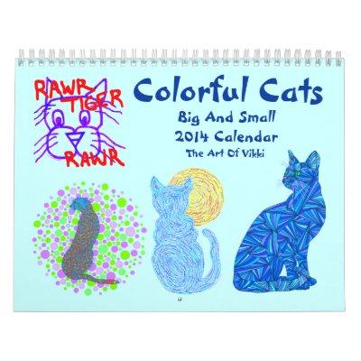 2014 grande y pequeño del calendario colorido de l