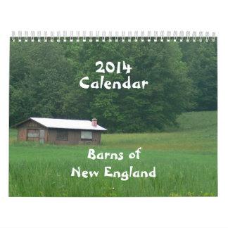 2014 graneros de Nueva Inglaterra Calendarios De Pared