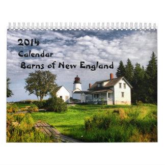 2014 graneros de nuevo England-1 Calendarios De Pared