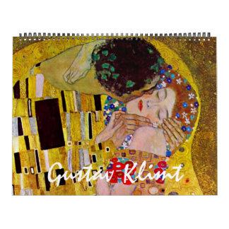 2014 Gustav Klimt, Vintage Art Nouveau Calendar