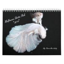 2014 Halfmoon Betta fish calendar