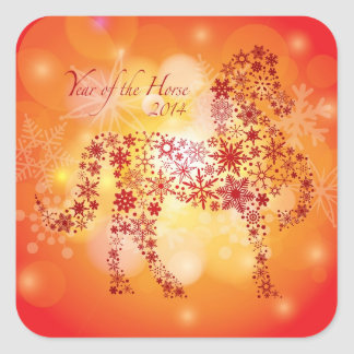 2014 Happy Chinese New Year of the Horse Sticker