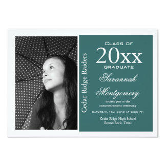2014 High School Graduation Announcements Aqua