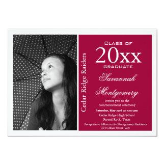 2014 High School Graduation Announcements Magenta