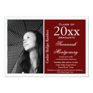 2014 High School Graduation Announcements Maroon