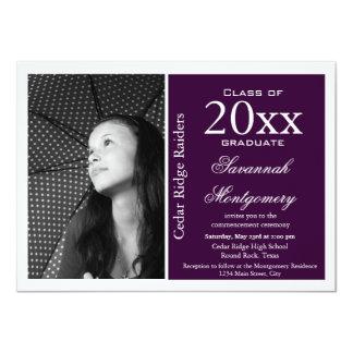 2014 High School Graduation Announcements Purple
