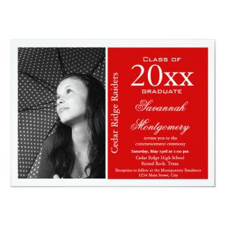 2014 High School Graduation Announcements Red
