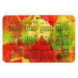 2014 hojas coloridas del calendario imán de vinilo