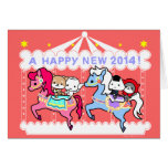 2014 Horse New Year Greeting Card