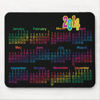 2014 Ice Cream Sherbet Year At A Glance Calendar Mouse Pads