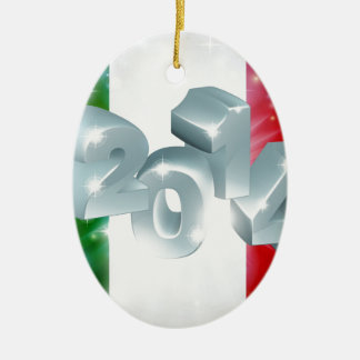 2014 Italian flag Ceramic Oval Decoration