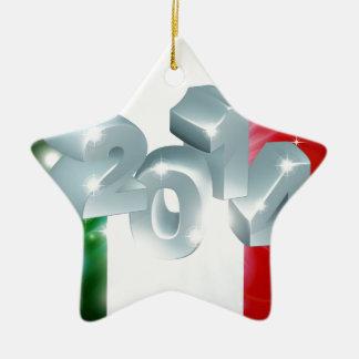 2014 Italian flag Ceramic Star Decoration