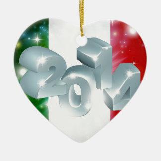 2014 Italian flag Ceramic Heart Decoration