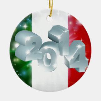 2014 Italian flag Round Ceramic Decoration