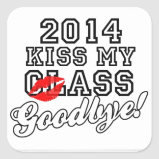 2014 KISS MY CLASS GOOD BYE SQUARE STICKER