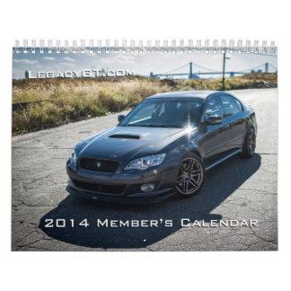2014 LegactGT.com Member's Calendar