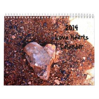 2014 Love Hearts Calendar 2