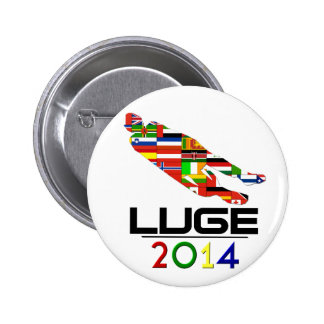 2014: Luge Pinback Button