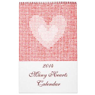 2014 many hearts Calendar