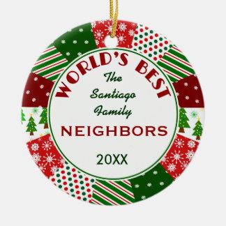 2014 MEJORES VECINOS o cualquier nombre Ornamento De Navidad