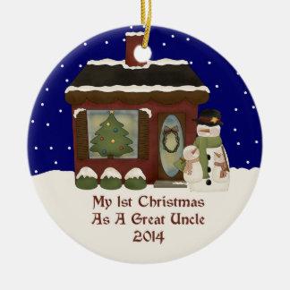 2014 mi 1r navidad como gran tío adorno navideño redondo de cerámica