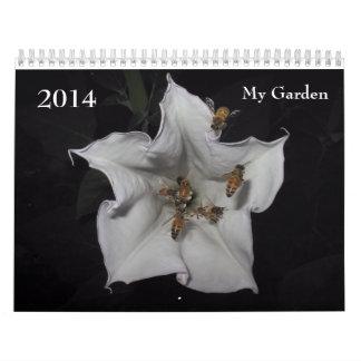 2014 mi jardín calendarios de pared