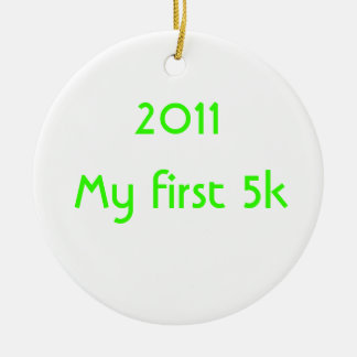 2014 mi primer 5k adorno de navidad