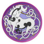 2014 Mink Chef: Unicorn Plate - White/Black/Purple