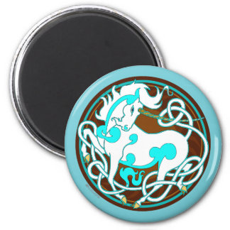 2014 Mink Nest Unicorn Magnet-Blue/Brown/White Magnet