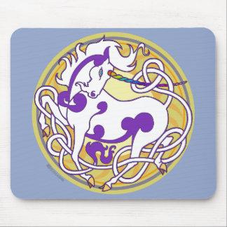 2014 Mink Office: Unicorn Mouspad - Purple/Yellow Mouse Pad