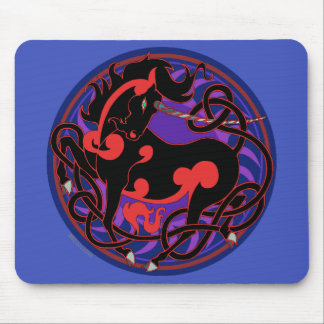 2014 Mink Office: Unicorn Mouspad  - Red/Black Mouse Pad