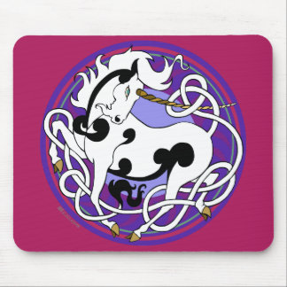 2014 Mink Office: Unicorn Mouspad - White/Purple Mouse Pad