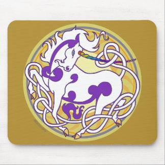 2014 Mink Office: Unicorn Mouspad - White/Purple/Y Mouse Pad
