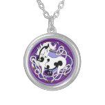 2014 MinkStyle Unicorn Necklace - Black/White