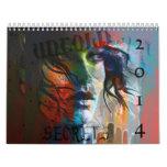 2014 mixed media female portrait calendar