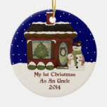 2014 My 1st Christmas As A Uncle Christmas Tree Ornaments