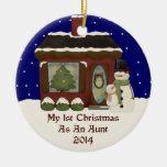 2014 My 1st Christmas As An Aunt Christmas Tree Ornament