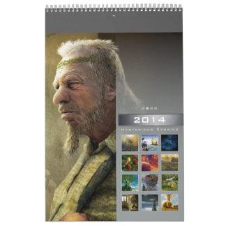 2014 Mysterious Stories (2) - Wall Calendar